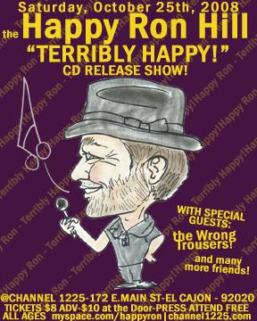 Terribly Happy Release Party Poster